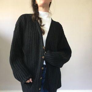 Vintage 90s Chunky Knit Cardigan L